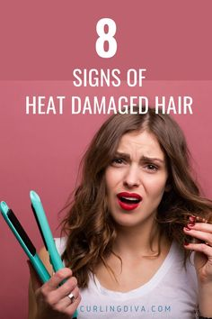Does your hair feel dull and dry and you're worried if you've damaged your hair? If you frequently use a hair dryer, straightener or curling iron, then perhaps you might've overdone it. Read on to find out whether you have heat damaged hair or not. #hair #heatdamage #haircare