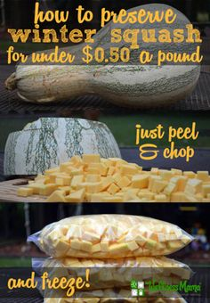 How To Preserve Winter Squash Without Cooking It | http://homestead-and-survival.com/how-to-preserve-winter-squash-without-cooking-it/
