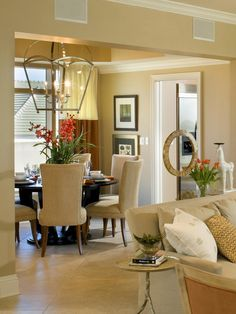 Traditional Dining-rooms from Troy Beasley on HGTV Nice, though the chandelier is HUGE