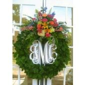 Love this Monogramed Wreath!