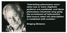 Bateson Quote/ Value of Multiple Descriptions