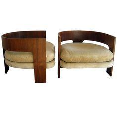 Pair of Milo Baughman Club Chairs
