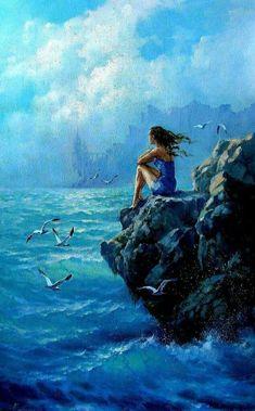 Colorful Drawings, Art Drawings, Prophetic Art, Abstract Nature, Fantasy Landscape, Ocean Art, Wildlife Art, Beautiful Paintings, Belle Photo