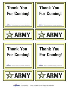 A cool idea is to take a picture of each camouflaged soldier saluting and send them the pictures with the thank you cards.
