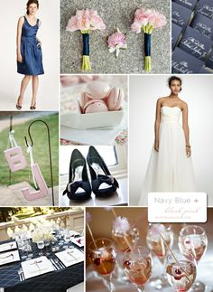 Navy blue and blush pink :)