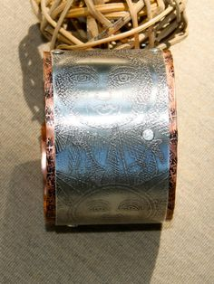 "Handmade copper and sterling silver cuff bracelet called ""Celestial III"". by artiumdesigns on Etsy"