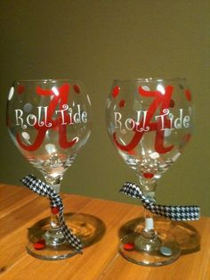 roll tide wine glasses