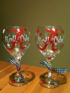 roll tide wine glasses