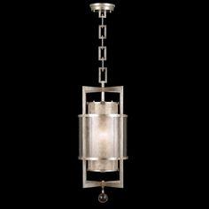 Millenium Silver Lantern. fine quality silver leaf. DesignNashville fine lighting