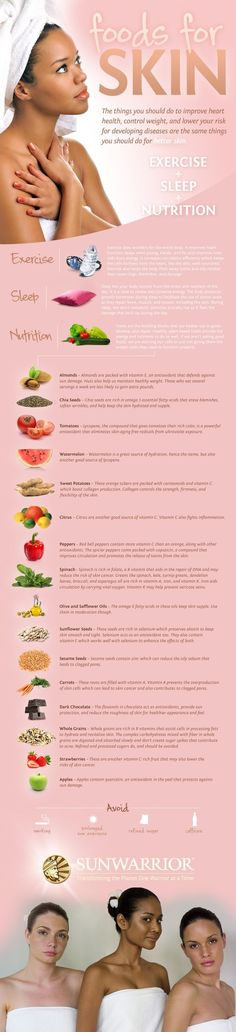 Pretty Skin foods. Join http://timelessbeauty.club/ for more beauty tips#TBC  #beauty #health