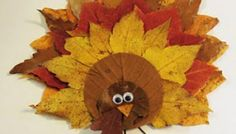 Easy DIY Thanksgiving Fall Leaves Turkey Decoration