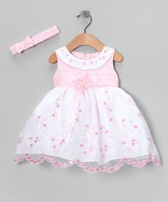 cc1c88e3041f Shanil Pink Floral Yoke Dress   Headband - Toddler