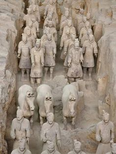Photographic Print: Museum of Qin Terra Cotta Warriors and Horses, Xian, Lintong County, Shaanxi Province, China by Adam Jones : Terracotta Army, Les Continents, Ways Of Seeing, Sculpture Clay, Ancient Artifacts, Travel Pictures, Travel Pics, Ancient History, Asian Art