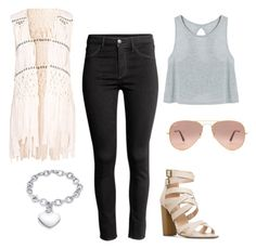 Senza titolo #554 by sara-scagnoli on Polyvore featuring moda, Hot Anatomy, H&M and Ray-Ban