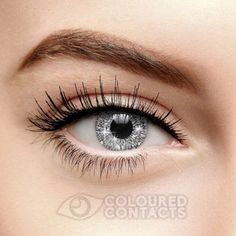 Silver Glimmer Colored Contact Lenses (90 Day)