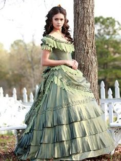 Katherine in a gorgeous dress, TVD