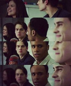 Omfg I loved this moment cause Mason and Liam's reaction 😂 Corey and Hayden were star struck Teen Wolf Scott, Teen Wolf Stiles, Corey Teen Wolf, Tyler Posey Teen Wolf, Teen Wolf Memes, Teen Wolf Mason, Teen Wolf Poster, Tenn Wolf, Meninos Teen Wolf