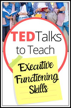 Ted Talks to Teach Executive Functioning Skills – Engaging and Effective Teaching Coping Skills, Social Skills, Life Skills, Teaching Study Skills, Social Issues, Adhd Strategies, Teaching Strategies, Working Memory, Learning Support
