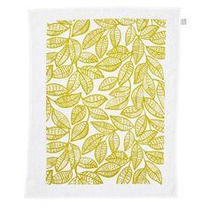 Ku-ring-gai Tea Towel - Chartreuse on White - hardtofind.