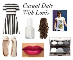 """Casual Date With Louis"" by jazzybarrera on Polyvore featuring beauty, Valentino, Aéropostale and Essie"