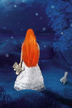Ausschnitt aus einer Illustration - Weihnachtskarte Disney Characters, Fictional Characters, Poster, Disney Princess, Illustration, Christmas Cards, Neckline, Christmas, Illustrations