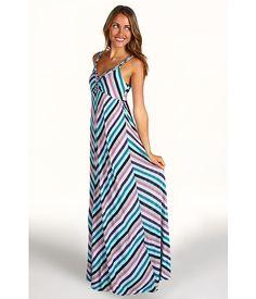 Ella Moss Dixie Maxi Dress Teal - 6pm.com
