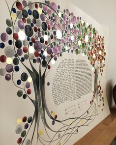 They stand shelter to their love and witness to their commitment 🌱KETUBAH ARTWORK COMMISSION - The Four Seasons Tree of Life with Love with gold leaf details. More real weddings at www.OnceUponaPaper.net #wedding #weddingtree #ketubah #paintedketubah #ketubahtree #jewishwedding #jewish #treeoflife #treehugger #watercolor #callygraphy #brideandgroom #fourseasons #artwork #goldleaf #onceuponapaper #creativewedding #elenaberlo