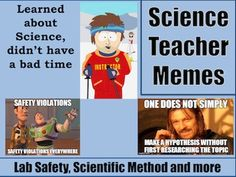 Science Teacher Memes (Lab Safety and Science Process) Science Writing, Teaching Science, Science Education, Teaching Ideas, Science Memes, Science Resources, Teacher Resources, Funny Science, 7th Grade Science