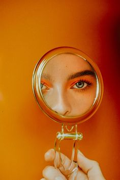 Photography by Bater + Street Makeup by Min Sandhu Talent, Charelle Shriek Mirror Photography, Makeup Photography, Color Photography, Photography Props, Creative Photography, Orange Aesthetic, Aesthetic Colors, Aesthetic Photo, Orange Wall Art