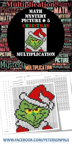Math Mystery Picture could be adapted ? Fun Math, Math Activities, Christmas Activities, Christmas Maths, Christmas Worksheets, Math Facts, Multiplication Facts, Fifth Grade Math, Fourth Grade