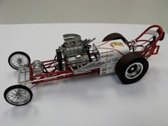 I'd say that most of you guys have seen this before but for those that haven't this is my fully scratch built Dragmaster chassis early dragster. Plastic Model Cars, Drag Racing, Scale Models, Engine, Lost, Trucks, Facebook, Collection, Ideas