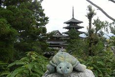 法隆寺 (Horyu-ji Temple) em 斑鳩町, 奈良県