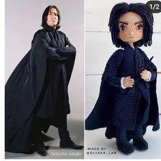 Harry Potter Dolls, Hobbies To Try, Crochet Elephant, Movie Characters, Crochet Animals, Crochet Dolls, Goth, Cartoon, Cos Play