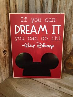 If you can DREAM IT You can do it. Walt Disney von invinyl auf Etsy