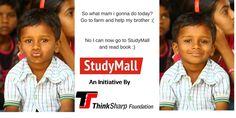 Help many more village children to read books, donate for StudyMall  http://www.thinksharpfoundation.org/