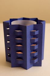 High School Paper & Glue Crafts Activities: Make a Pop-Up Lantern