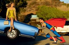 Superman and Carolyn Murphy  Vogue, January 2009
