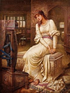 Elaine (1891- John Melhuish Strudwick 1849-1937)
