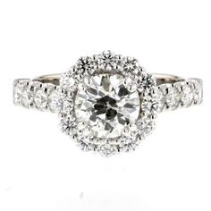 afac8476640 halo diamond engagment ring Jewelry Collection