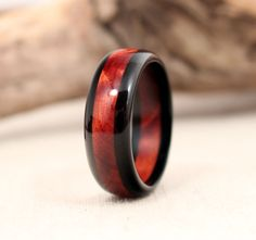 Ebony and Cedar Wooden Ring by WedgewoodRings on Etsy