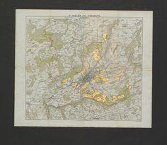 Wälder und Güter der Ortsgemeinde St. Gallen; Rar K 55 St Gallen, Old Maps, Vintage World Maps, Communities Unit, Environment, Places, Old Cards