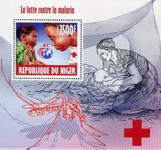 Francobolli . Lotta contro la malaria - Malaria on Stamps - Niger 2013