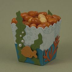 How cute would this be for a fish-inspired birthday party or just a fun treat to give to a friend or family member that loves the sea? This Mini Popcorn box is the perfect size for the perfect snack.
