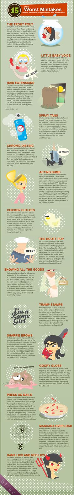 The smart way of avoiding common beauty mistakes (Infographic)