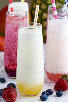These Skinny Italian Sodas are super delicious! Made with fresh fruit but lightened up!