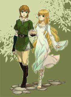 Zelda x Link  by tabakokobata