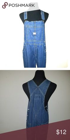 Overalls Classic denim, atraight leg overalls with three button up sides, bibb compartments Jeans Overalls
