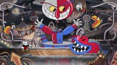 """Cuphead - A brutal platforming game with a gorgeous hand-drawn art style (inspired by cartoons). This captivating game is defined by inventive, punishing boss fights. In the top 10 for the highest ranking """"Must Play"""" games for Jeux Xbox One, Xbox One Games, Xbox Live, Pc Games, Card Games, Playstation, Sunset Overdrive, Vase, Gray"""