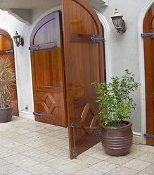 Mahogany custom doors - high gloss varnish- st john usvi Door and window restoration & Mahogany veneer door made to replace an existing dooru003d cost about ... pezcame.com