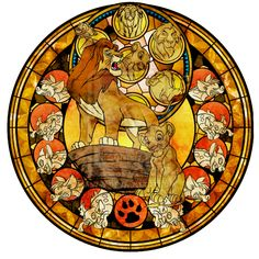 Stained Glass - Simba